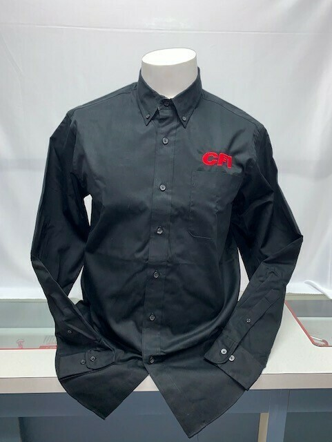 SHIRT BUTTON UP (LS) (S608) BLACK - X LARGE