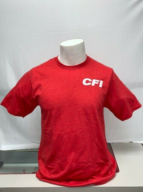 FAN FAVORITE T-SHIRT (PC455) BRIGHT RED HEATHER - LARGE