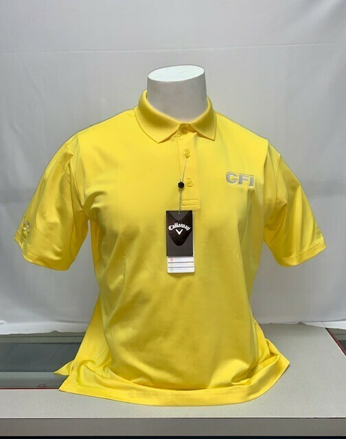 CALLOWAY OPTI-DRI MEN'S POLO (CGM550) LEMON ZEST - MEDIUM