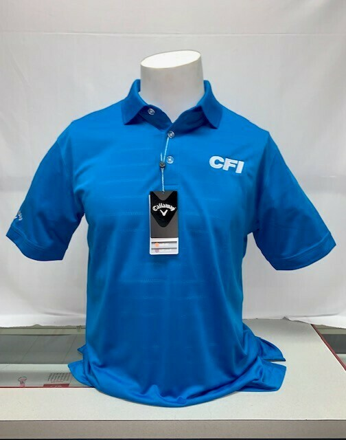 CALLOWAY OPTI-VENT MEN'S POLO (CGM451) MEDIUM BLUE - LARGE