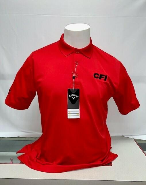 CALLOWAY OPTI-DRI MEN'S POLO (CGM550) SALSA RED - MEDIUM