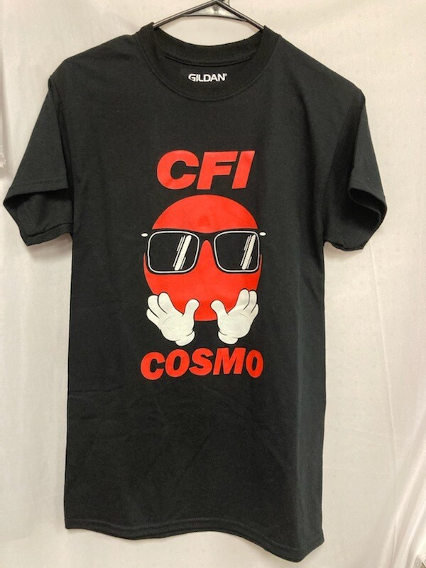 COSMO T-SHIRT BLACK - LARGE