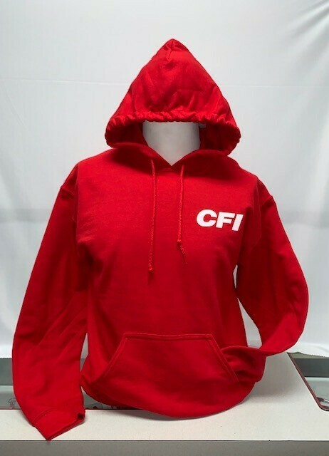 HOODIE (18500) RED - SMALL
