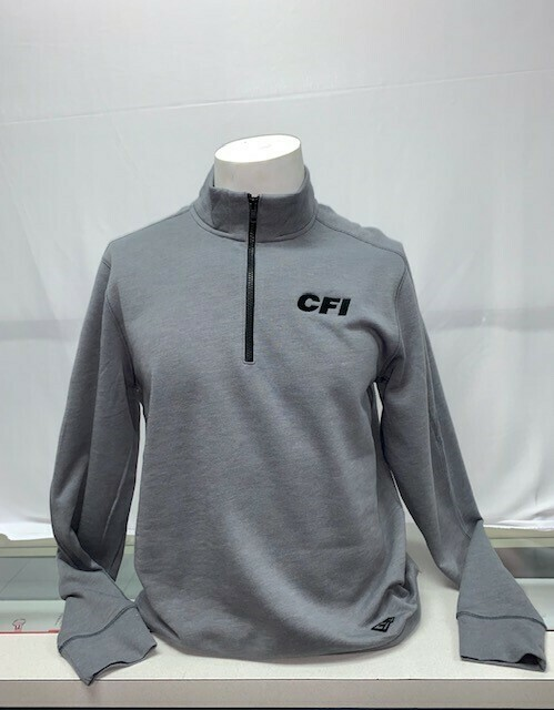 NEW ERA TRI-BLEND FLEECE 1/4 ZIP (NEA512) GREY HEATHER - 2X