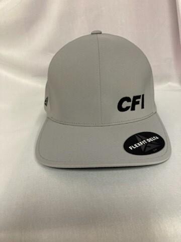 PORT AUTHORITY FLEXFIT DELTA CAP (C938) SILVER - L/XL