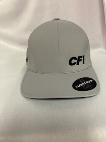 PORT AUTHORITY FLEXFIT DELTA CAP (C938) SILVER - S/M