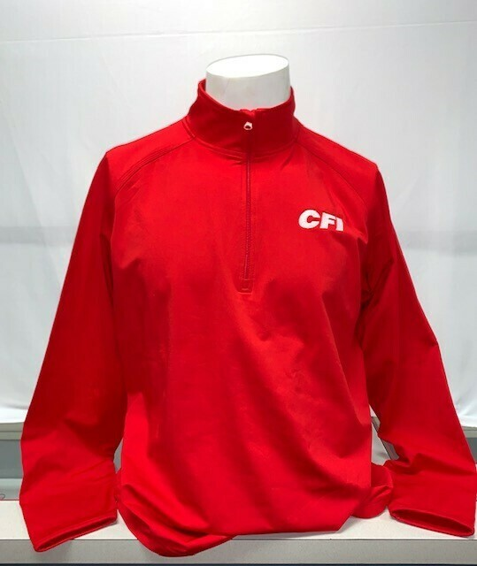 PORT & COMPANY FLEECE 1/4 ZIP PULLOVER (PC590Q) RED - LARGE