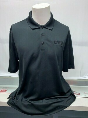 PORT AUTHORITY (K110) DRY ZONE POLO DEEP BLACK - 4X