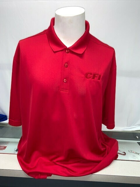 PORT AUTHORITY (K110) DRY ZONE POLO RICH RED - LARGE