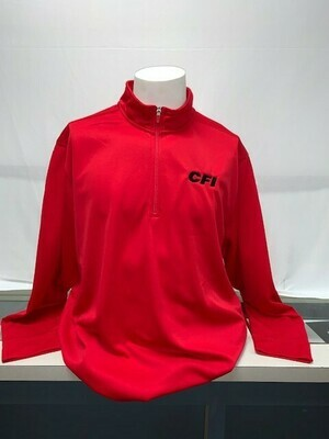 SPORT-TEK 1/2 ZIP PULLOVER (ST850) TRUE RED - 4X