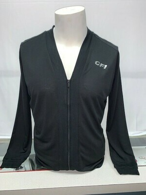 PORT AUTHORITY LADIES BOMBER CARDIGAN (LK5431) BLACK - SMALL