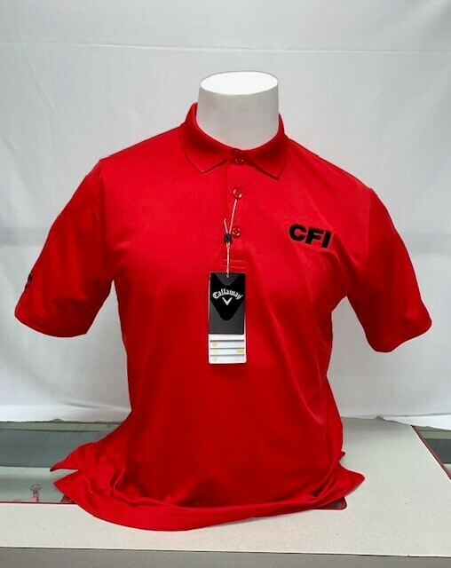 CALLAWAY OPTI-DIR MEN'S POLO (CGM550) SALSA RED - 4X