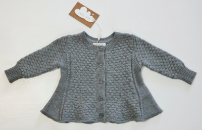 Angel Dear Cardigan - grey 3-6