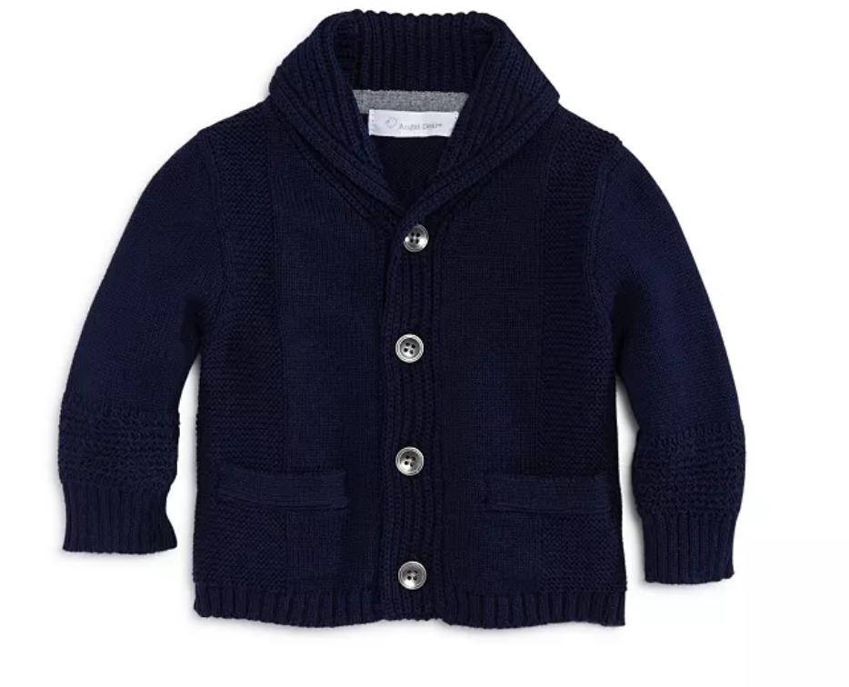 Angel Dear Cardigan - shawl collar blue 6-12
