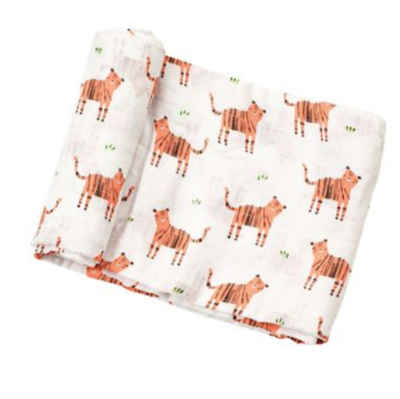 Angel Dear muslin swaddle blankets - tigers