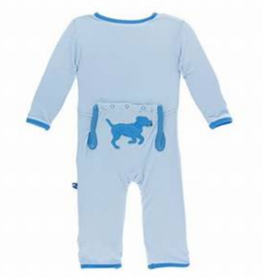 applique Coverall w/zipper pond running labs - running labs