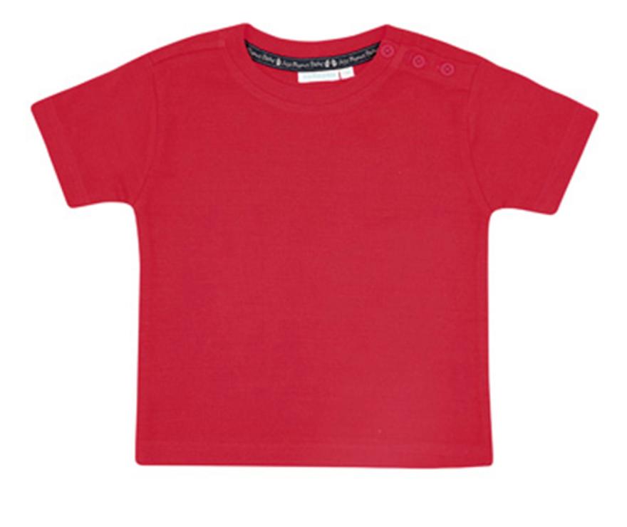 basic red tee - 3mos