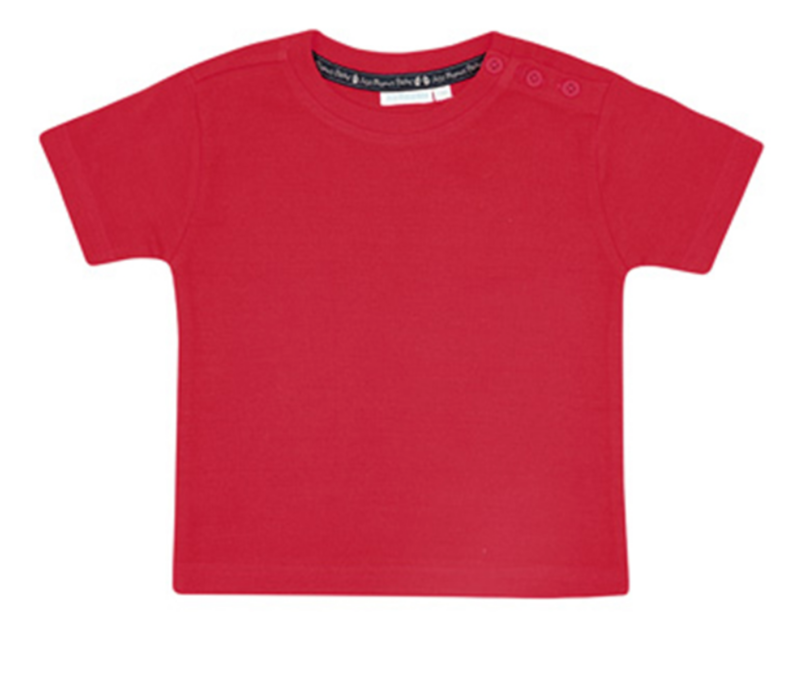 basic red tee - 3mos
