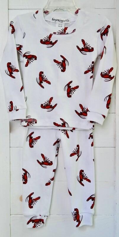 Thingamajiggies 4 Kids 2 pc l/s Pajamas #101 - 12 lobster