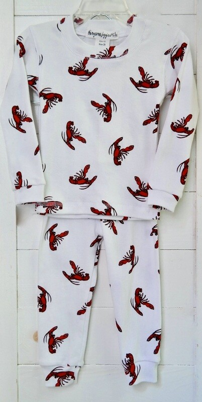 Thingamajiggies 4 Kids 2 pc l/s Pajamas #101 - 12mo lobster