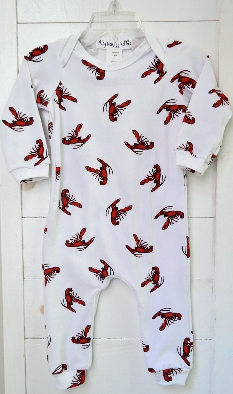 Thingamajiggies 4 Kids infant jumpsuit  - 6mos lobster