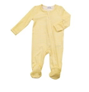 Angel Dear footie - basic yellow stripe 3-6