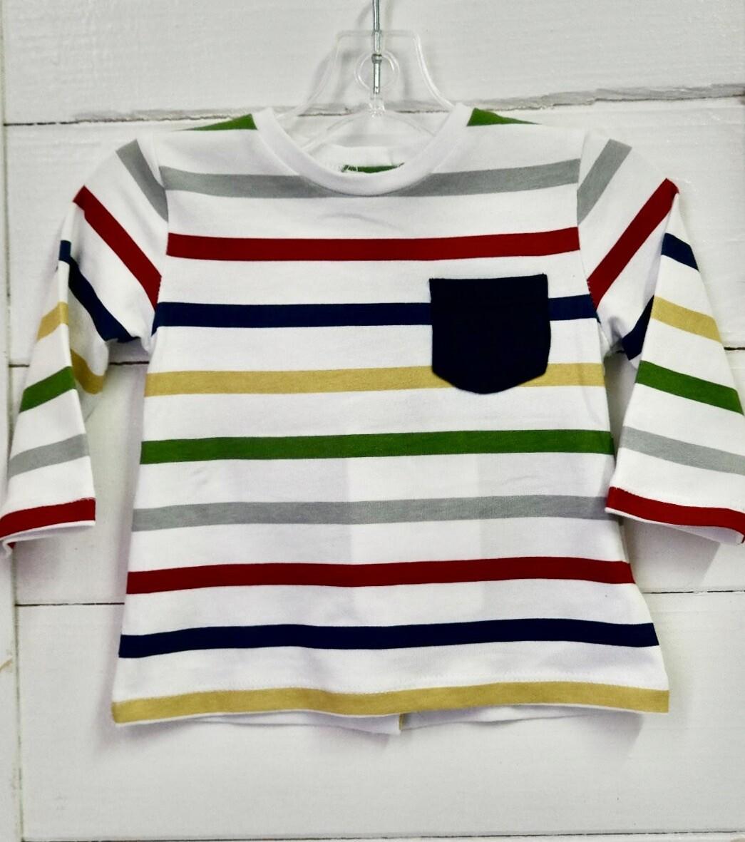 Cuore L/S tee - 6-9mo Stripe
