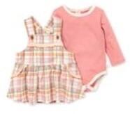 Cozy Harvest Plaid Dress & Bodysuit set