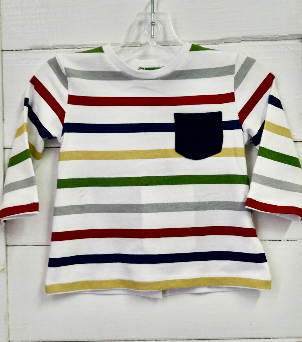 Cuore L/S tee - 1-2mo Stripe