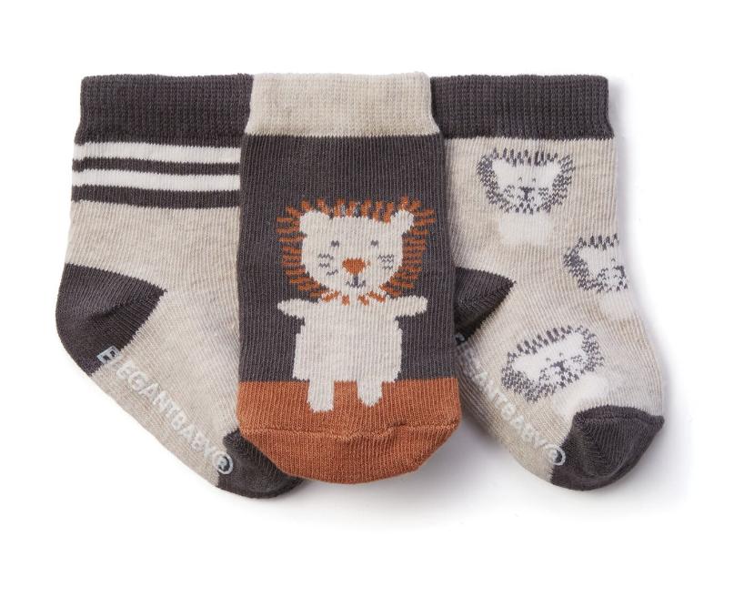 3 pk Lion Socks