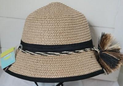 Cali Kids Woven Hat - 9m-3y Black
