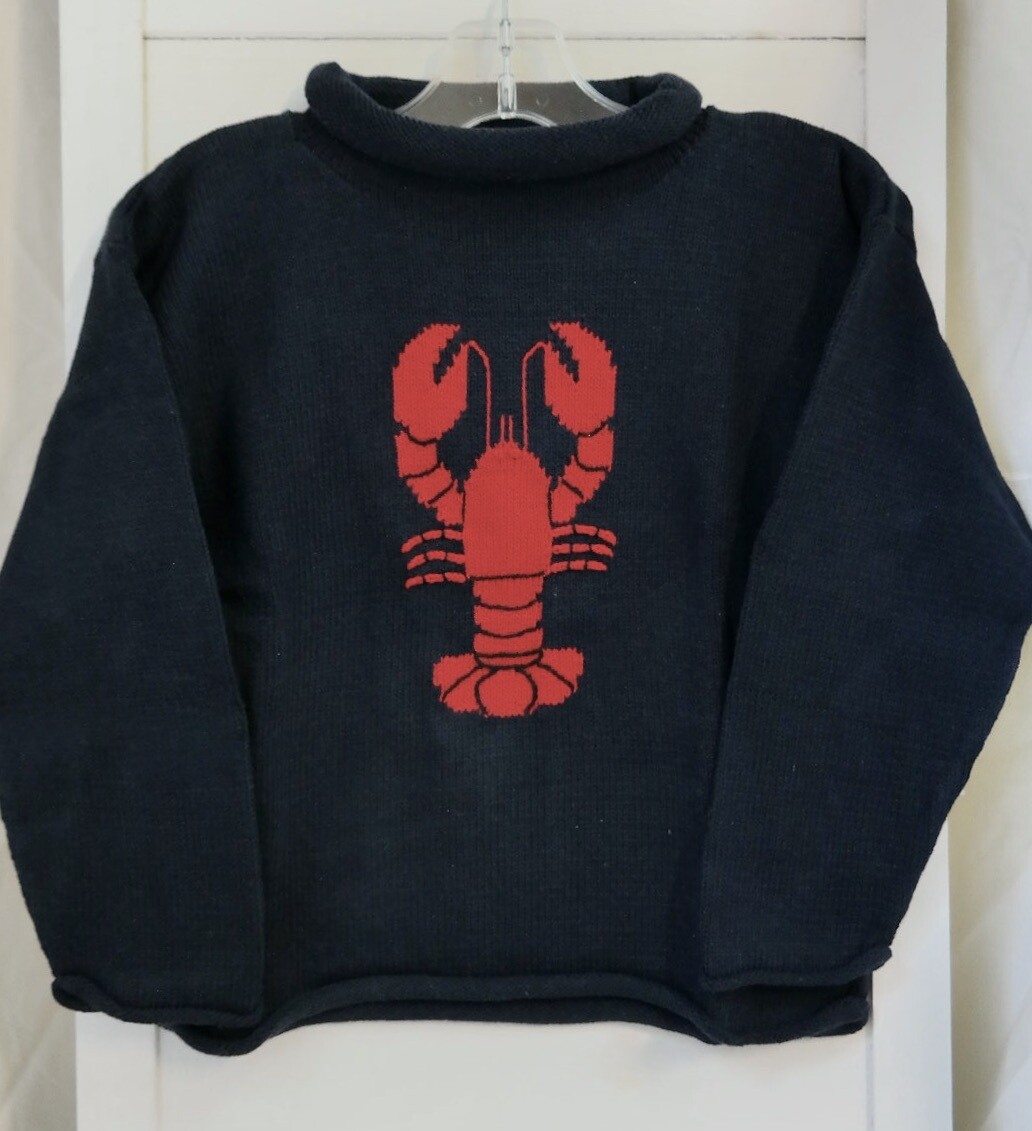Claver roll neck sweater - 2t navy
