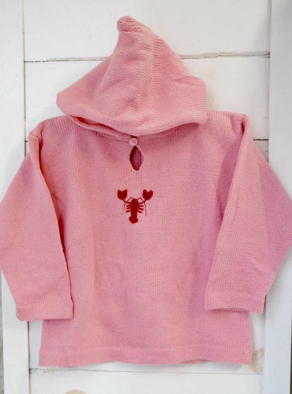 Claver Zip up hooded sweater - 12 mos pink cotton