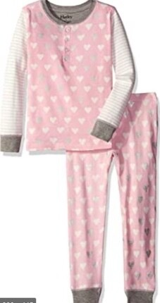 Metallic Hearts Henley PJ Set 8
