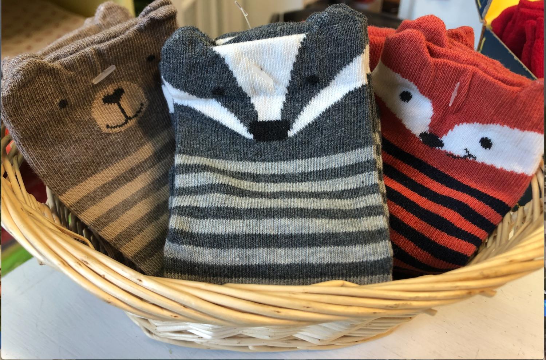 woodland animal socks