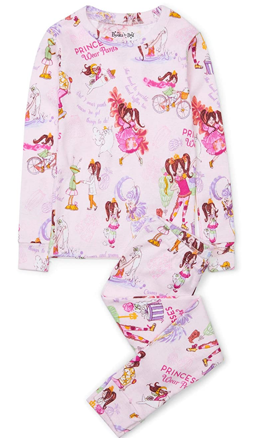 Books to Bed 2 Piece PJs - 6 Princesses Wear Pants