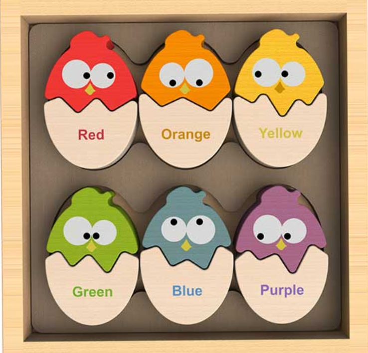BeginAgain Color 'N Eggs Wooden Puzzle