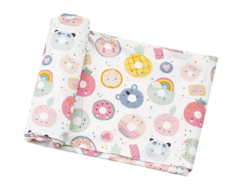 Angel Dear Knit bamboo swaddle blanket