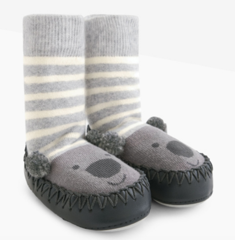 Koala mocassin slipper socks