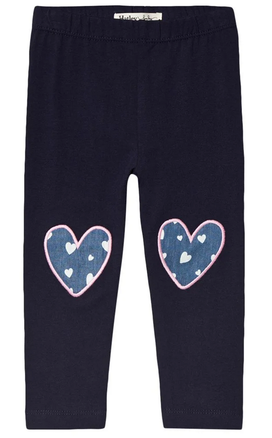 Navy hearts legging