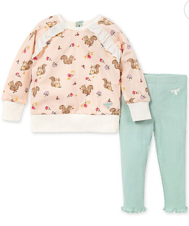 Sharing Squirrels Tunic and Legging set