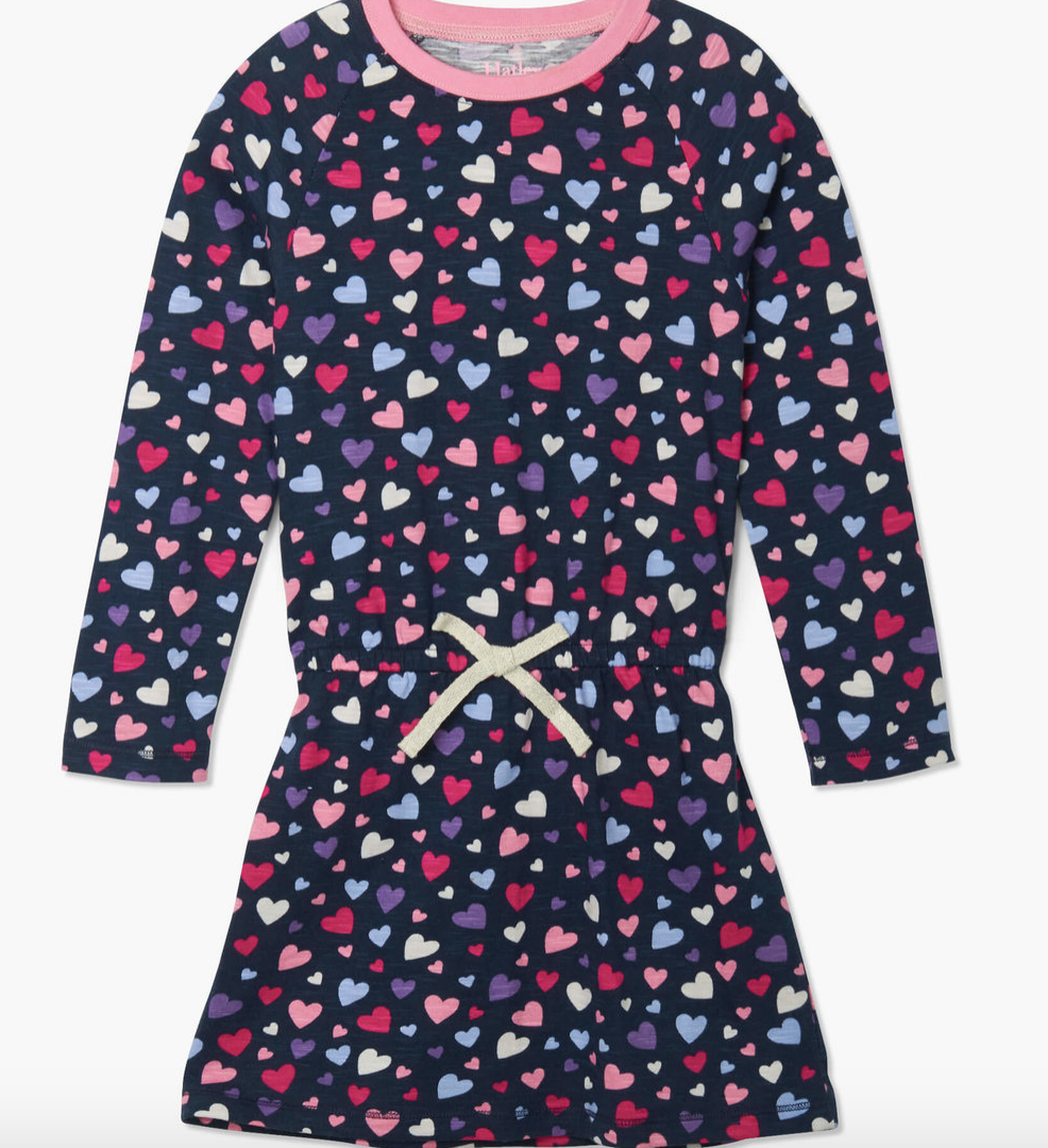 Confetti hearts drop waist dress