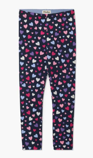 confetti hearts leggings