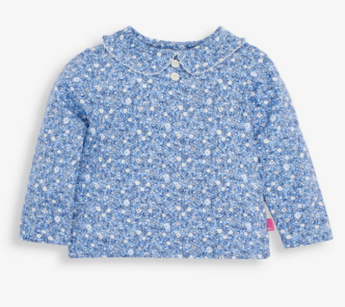 Ditsy Peter Pan Top blue