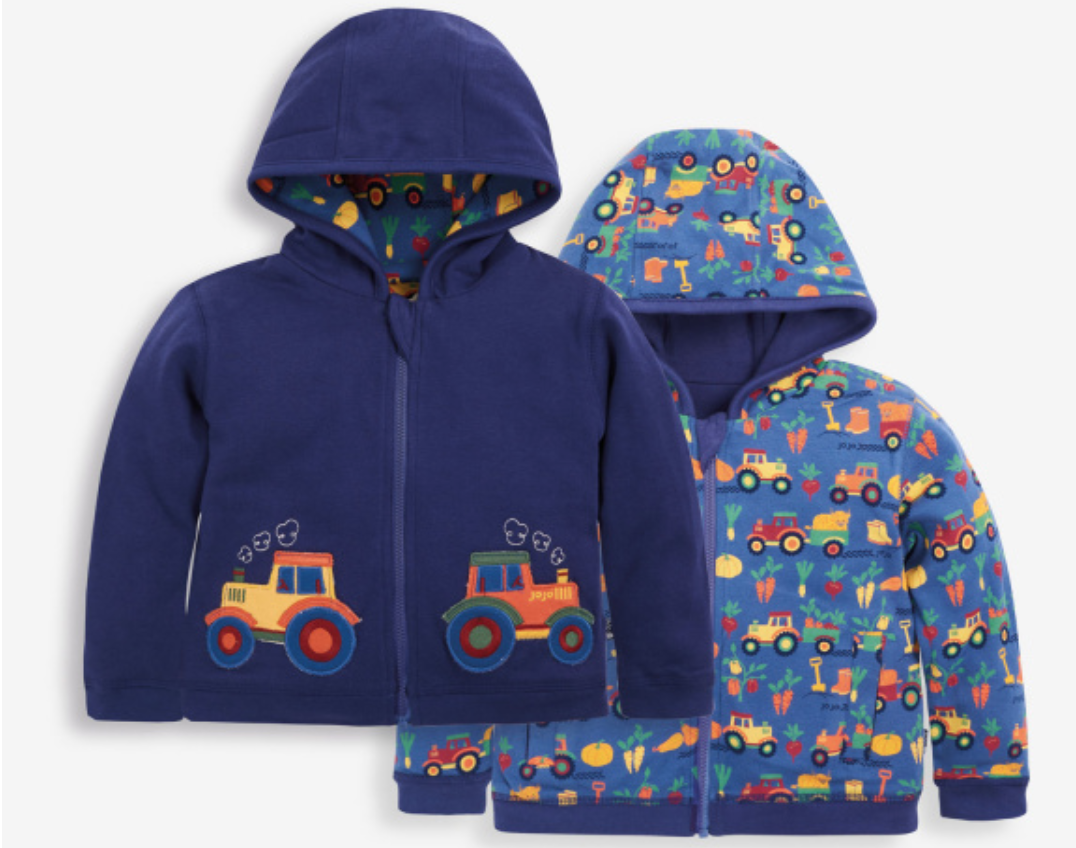 tractor reversible hoodie