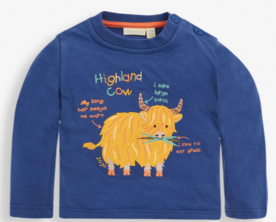 Highland Cow Top denim
