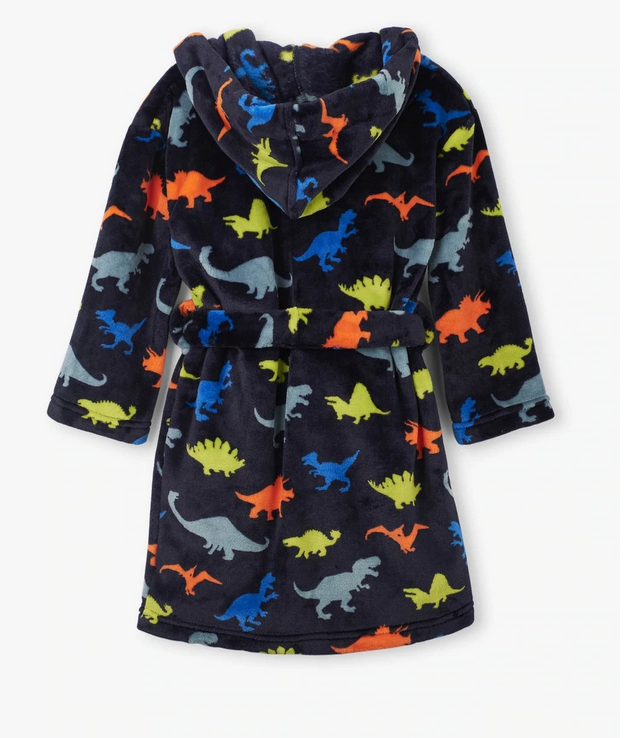 Dino Herd Fleece Robe LRG