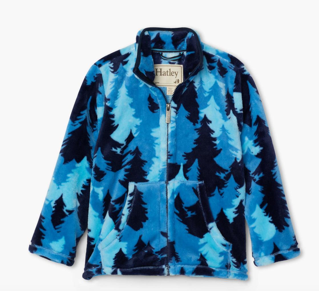 Forest Camo Fuzzy Fleece Zip Up