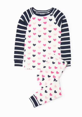 Lovey Hearts Organic Raglan Pjs Set 10
