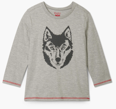 Wolf Long Sleeve Tee grey